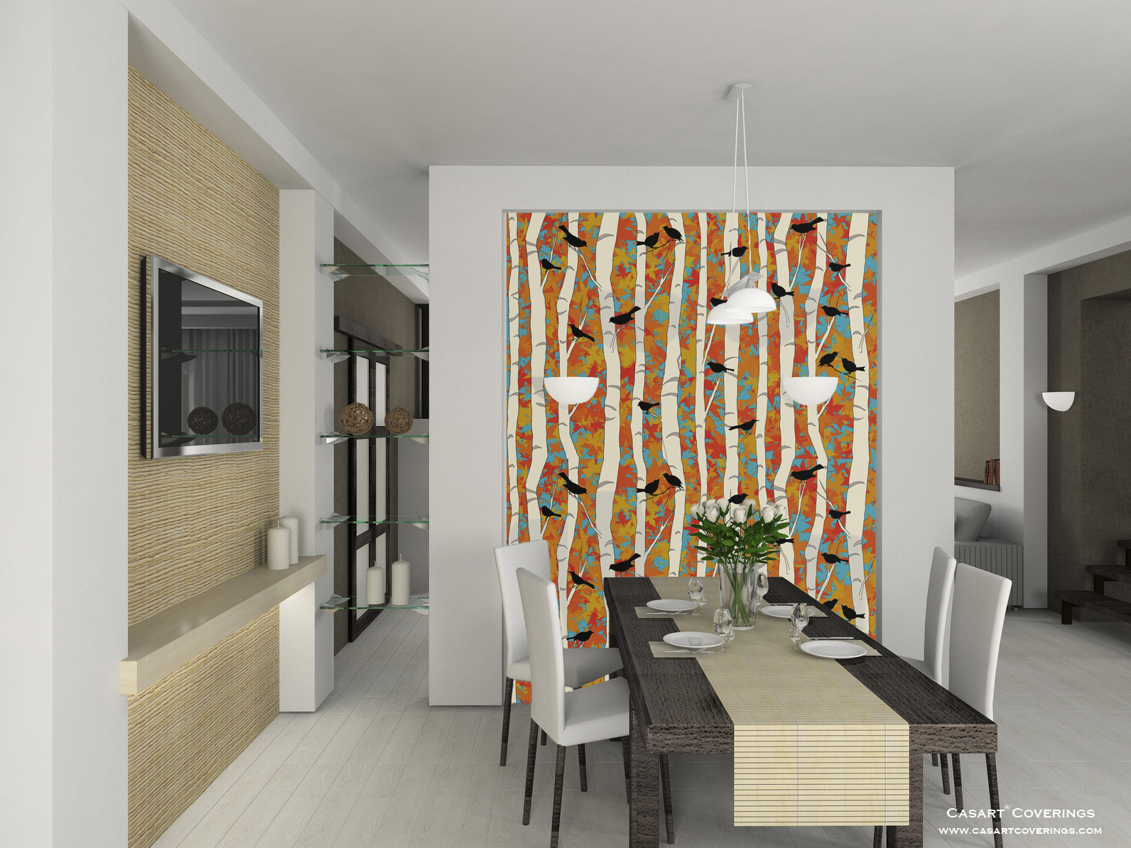Interior design wallcoverings by casart corinne gail for 3d wallpaper for dining room
