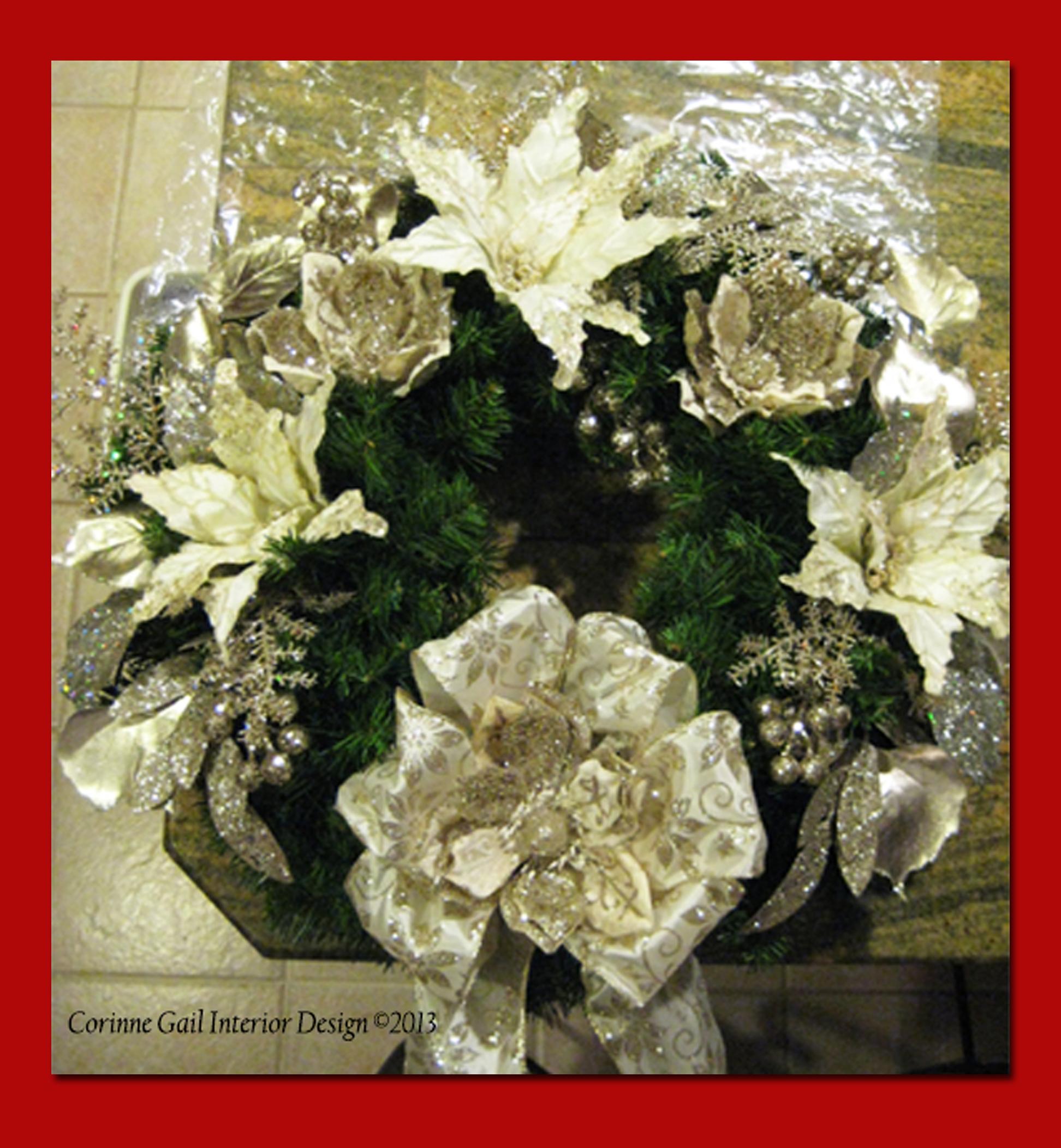 Create a Designer Christmas Wreath 171 Corinne Gail Interior Design